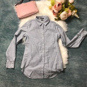 Theory Blue Button Down Shirt Size M